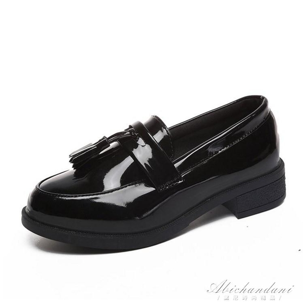 樂福鞋女秋季復古英倫學院風小皮鞋女百搭樂福鞋女 黛尼時尚精品
