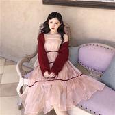 吊帶洋裝女裝韓版仙女裙子中長款性感氣質網紗裙  茱莉亞