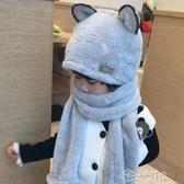 兒童圍巾 韓版親子男女兒童帽子圍巾手套三件一體套裝秋冬季保暖加厚圍脖帽