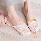 5雙裝 蕾絲船襪女淺口夏季薄款襪子透氣隱形襪不掉跟硅膠防滑【橘社小鎮】