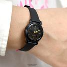 CASIO手錶 小圓黑金刻度矽膠錶NECA4