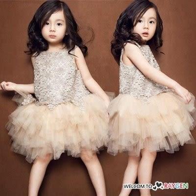 蕾絲網紗蓬蓬公主裙 洋裝 小花童