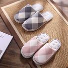 [現貨] 日式格紋防滑保暖室內拖鞋 地板拖鞋 YOPU807