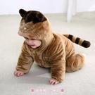 兒童連體睡衣 嬰兒連體衣男女兒童哈衣冬季寶寶爬服新生兒外出服棉衣造型服 - 歐美韓