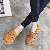 英倫風鏤空樂福鞋 絨面厚底鞋 布洛克休閒鞋《小師妹》sm1552