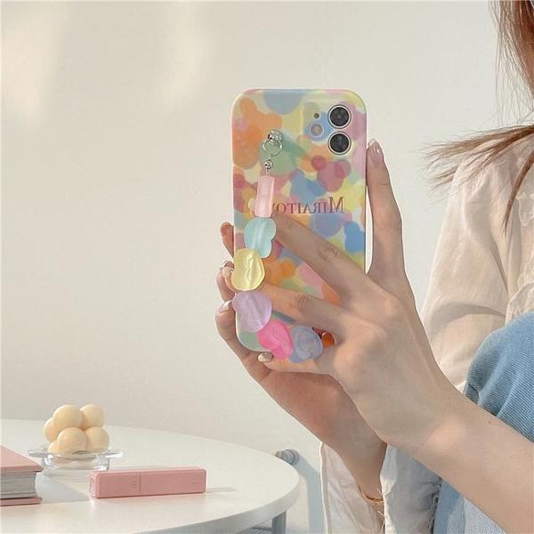 蘋果手機殼 玩勝 彩色少女心鏈條11/12Pro/Max/mini蘋果X/XS/XR/SE手機殼iPhone7p 星河光年
