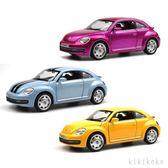 模型汽車 甲殼蟲合金汽車模型聲光車模仿真金屬回力兒童玩具車  XY6914【KIKIKOKO】TW
