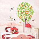 樹下的貓壁貼 牆壁貼紙 時尚壁紙貼 卡通壁貼 《YP1398》快樂生活網