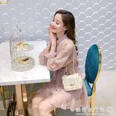 女裝裝潮裙子小個子矮洋裝/內搭蕾絲打底長袖超仙女裙  歐韓流行館