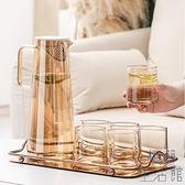 冷水壺涼白開水杯茶壺玻璃耐高溫家用涼水杯大容量【極簡生活】