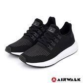 【AIRWALK】動力進擊休閒運動鞋-黑-女款