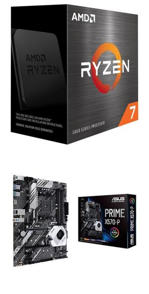 【自組DIY兩件組R58】AMD R7 5800X+華碩 PRIME X570-P