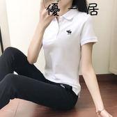 翻領短袖t恤女顯瘦運動休閒polo衫