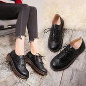 休閒小皮鞋女軟妹俏皮可愛系帶圓頭流蘇舒適增高學生夏季新款 QQ3269『MG大尺碼』