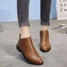 小短靴女2020新款馬丁靴女英倫風學生瘦瘦靴子女秋季裸靴平底女鞋 小山好物