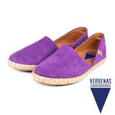 【VERBENAS】CALPE卡爾佩牛皮草編鞋/休閒鞋  薰衣草紫(058-PUR)