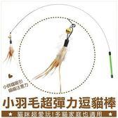 *WANG*寵喵樂-神奇生動貓玩具-釣魚式鋼絲逗貓棒-羽毛款(隨機羽毛)