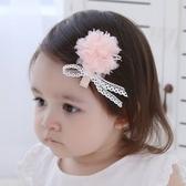 UNICO 兒童 可愛網紗花朵蕾絲全包布髮夾