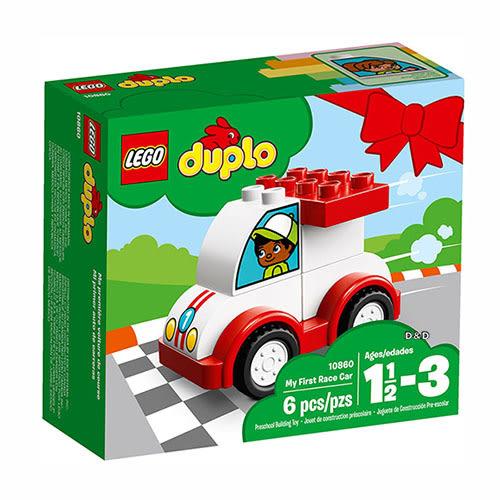樂高積木 LEGO《 LT10860 》2018 年 Duplo 幼兒系列 - 我的第一部賽車 ╭★ JOYBUS玩具百貨
