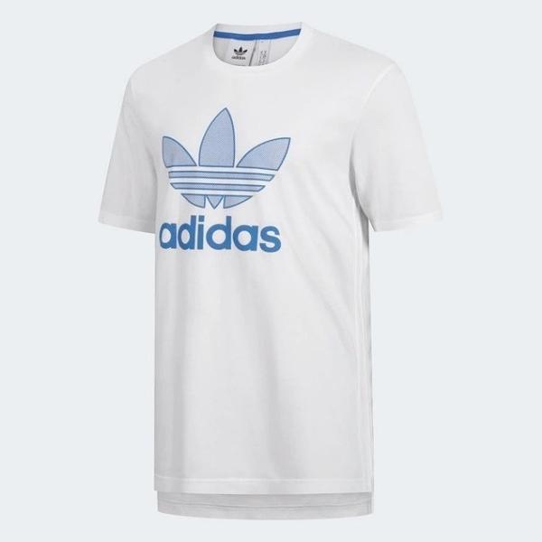 J-adidas Warm Up Tee 白藍 男款 短T 運動全黑 休閒 短袖T恤 三葉草 白標 GK0652