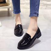 小皮鞋女夏季2018新款學生韓版中跟英倫學院風百搭平底 LL789『美鞋公社』