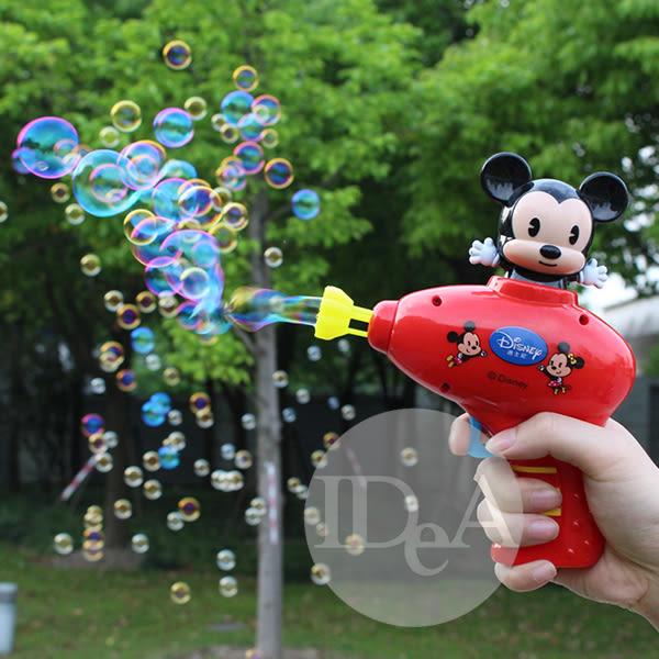 迪士尼卡通米奇泡泡機 發泡機 吹泡泡 非電動 兒童 幼兒 不沾手 按壓自行吹送 泡泡槍