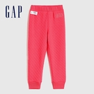 Gap女幼童 Logo絎縫式鬆緊運動褲 614523-玫瑰紅