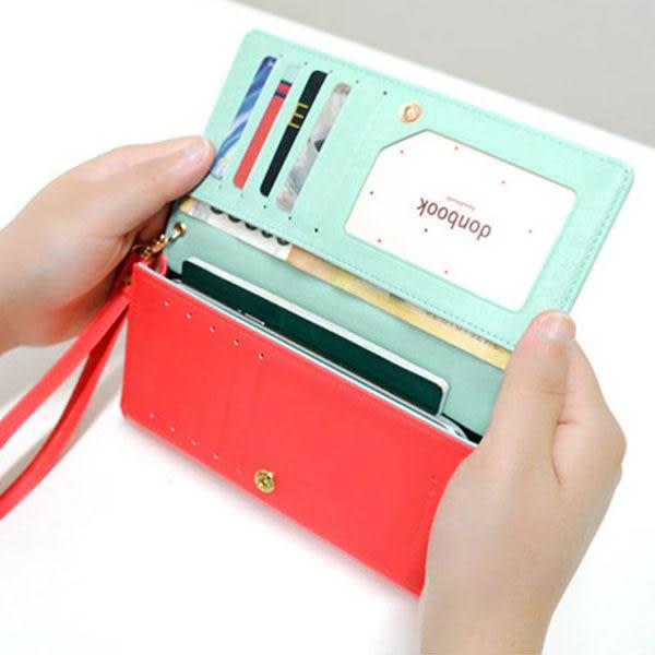【 流行馨飾力 】韓版 donbook智能手機包iPhone 5 S4 Note3卡包 長款錢包 HG010