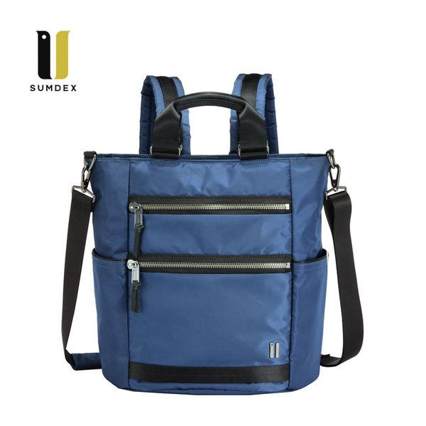 SUMDEX  12.1吋+IPAD城市三用後背包NON-792BU藍色