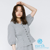 ❖ Hot item ❖  格紋圖案V領開襟襯衫上衣 - earth music&ecology