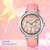 CASIO 手錶專賣店 CASIO SHEEN_ SHE-3048L-4A_施華洛 世奇_三眼_日/星期_女錶