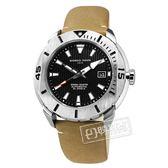GIORGIO FEDON 1919 / GFCH006 / 機械錶 潛水錶 自動上鍊 藍寶石水晶玻璃 防水200米 真皮手錶 黑x土黃 47mm
