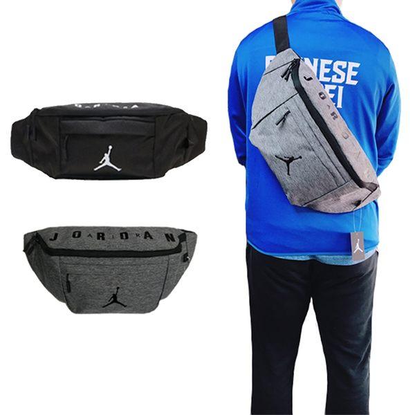 Nike Jordan 黑 灰 大腰包 側背包 斜背包 大容量 側背腰包 多夾層 運動 休閒 包包 9A0242-023