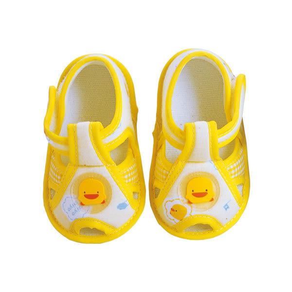 【奇買親子購物網】黃色小鴨格狀嬰兒學步鞋(黃色)