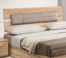 【森可家居】多莉絲6尺皮面床片 7ZX121-4 雙人床頭片 木紋質感 無印風 北歐風