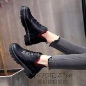 英倫風短靴裸靴裸靴馬丁靴短靴女靴子粗跟厚底加絨單靴女鞋子學生潮