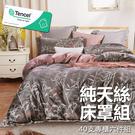 #YN21#奧地利100%TENCEL涼感40支純天絲5尺雙人舖棉床罩兩用被套六件組(限宅配)專櫃等級