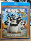 挖寶二手片-0121--正版藍光BD【馬達加斯加:爆走企鵝 3D+2D雙碟版】卡通動畫(直購價)