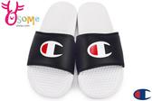 Champion拖鞋 現貨 大Logo 運動拖鞋 情侶拖鞋C9958#黑白◆OSOME奧森鞋業