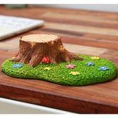 ⓒ小花花海樹樁草坪微景觀 多肉植物創意居家裝飾【B03002】