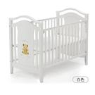 Baby City 娃娃城 鄉村古典熊大床(白)+床墊+七件組寢具組[衛立兒生活館]