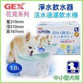 *King Wang*日本GEX《超小型犬用淨水飲水器1.8公升》藍色