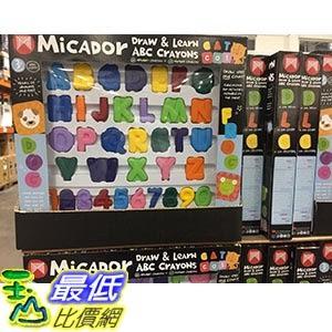 [COSCO代購] MICADOR DRAW & LEARN 字母&數位元造型學習蠟筆 英文字母*26數位元*10入 _C112232
