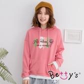 betty's貝蒂思 假兩件前口袋連帽T-shirt(粉色)