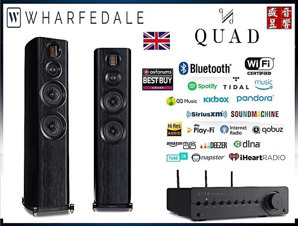 門市有現貨 - 英國 Wharfedale EVO 4.4 喇叭 + 英國 QUAD Vena II PLAY 無線串流擴大機 - 公司貨