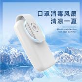 2021可攜式隨身USB充電型口罩空氣迴圈小風扇紫外線淨化排氣扇