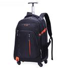 PUSH!旅遊休閒用品拉桿雙肩背包電腦包...
