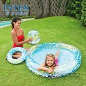 夢幻星星水池套裝沙灘球泳圈充氣水池