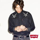 Levis 牛仔襯衫 男裝 / 方形休閒雙口袋 / 老鷹刺繡