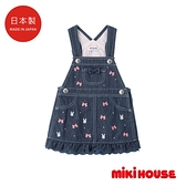MIKI HOUSE 日本製 兔兔蝴蝴結背心吊帶裙